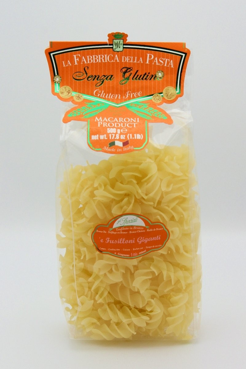 Claudio Specialty Foods La Fabbrica Fusilloni Giganti- Gluten Free