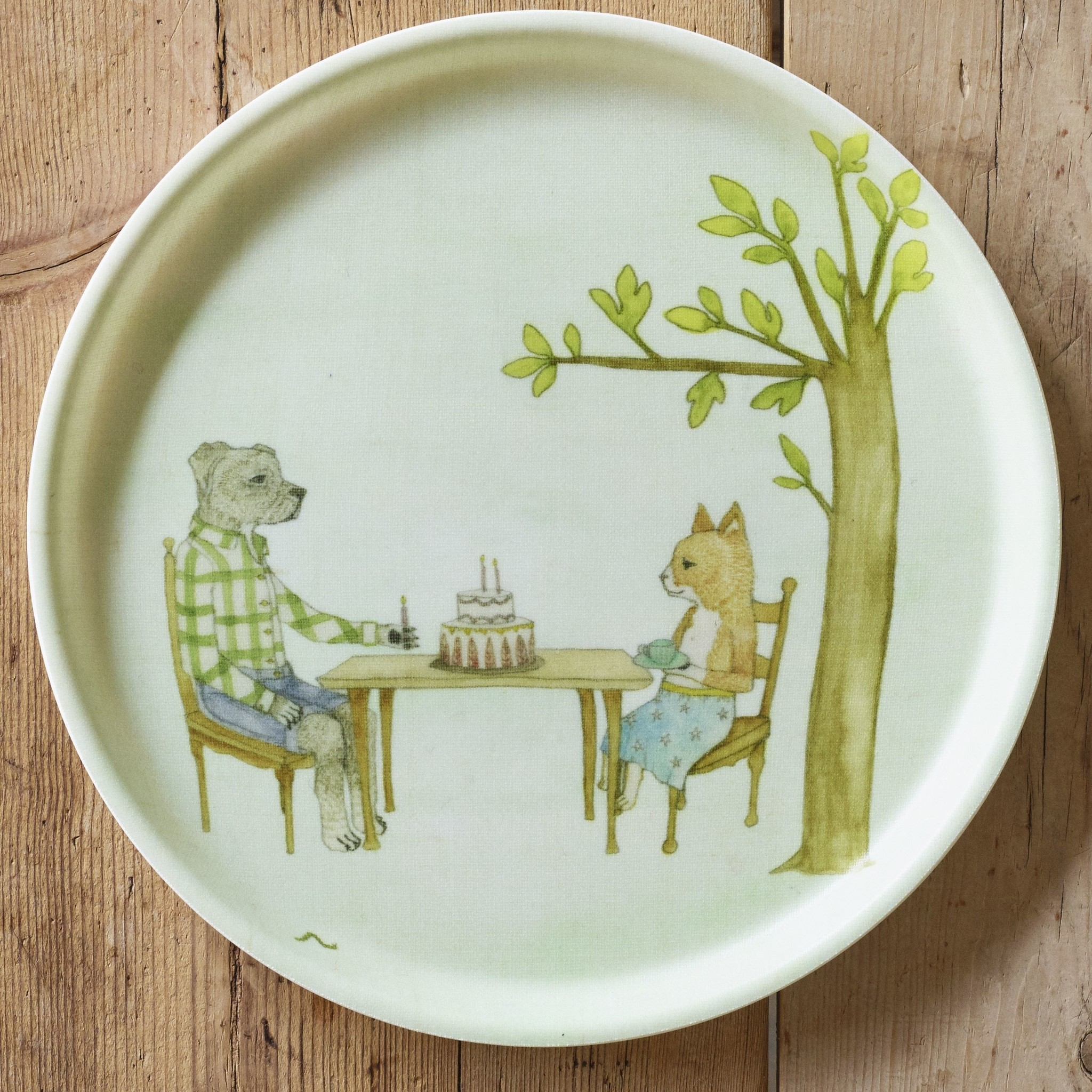 Coral and Tusk LLC Forest - round tray