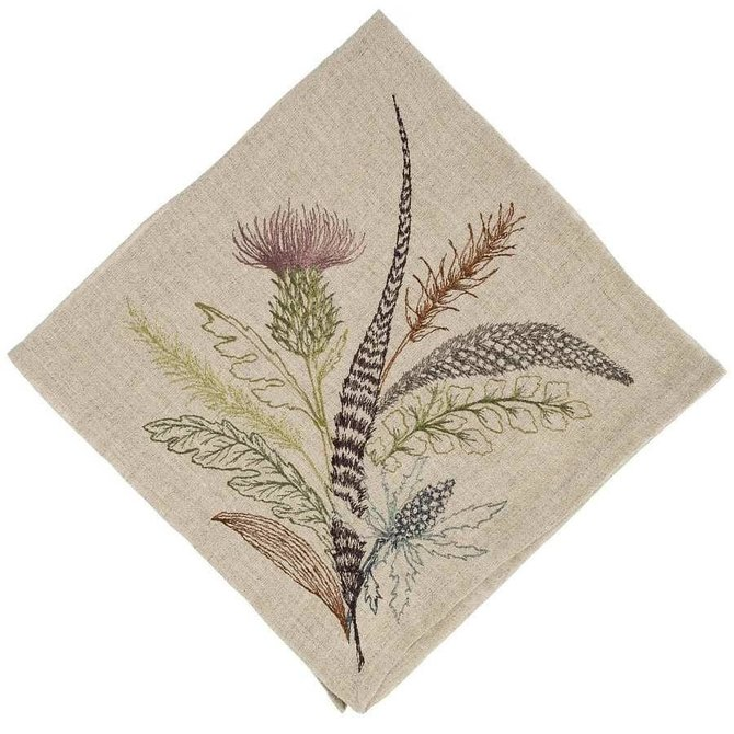 Coral and Tusk LLC Napkin 20x20 thistle