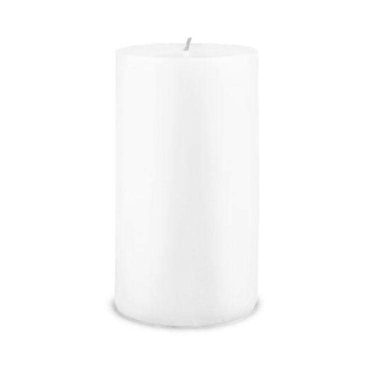 Creative Candles, LLC White NF 3x6 pillar candle