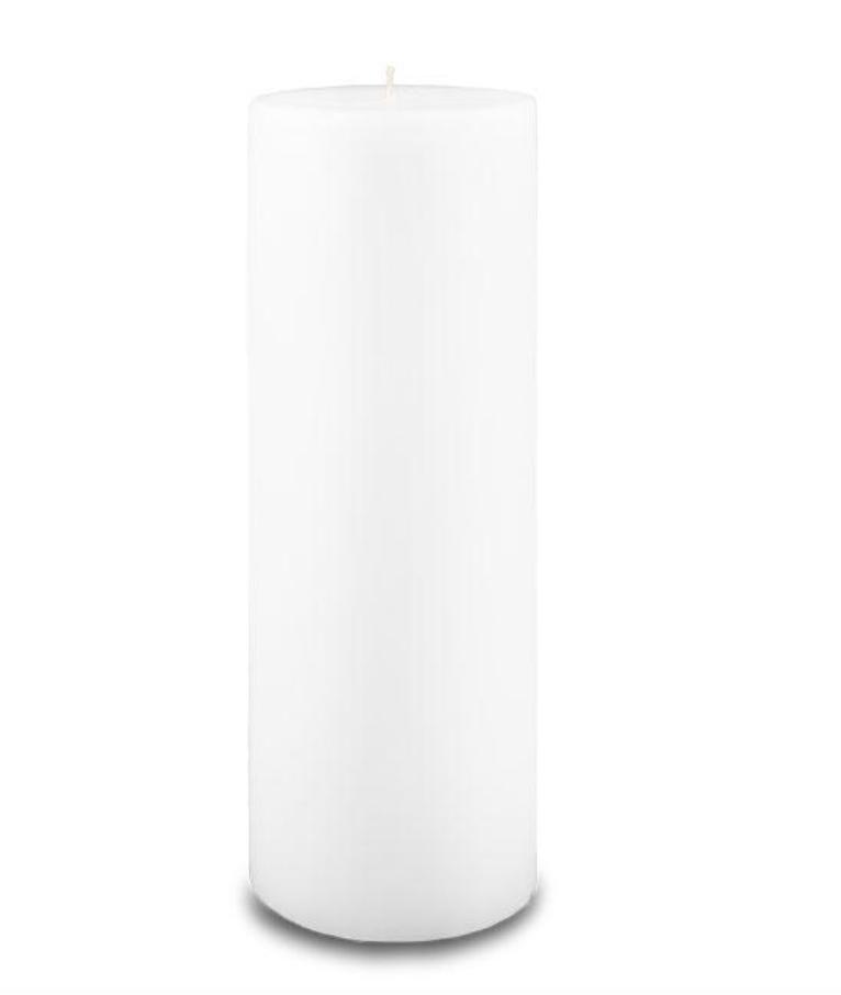 Creative Candles, LLC White NF 3x9 pillar candle