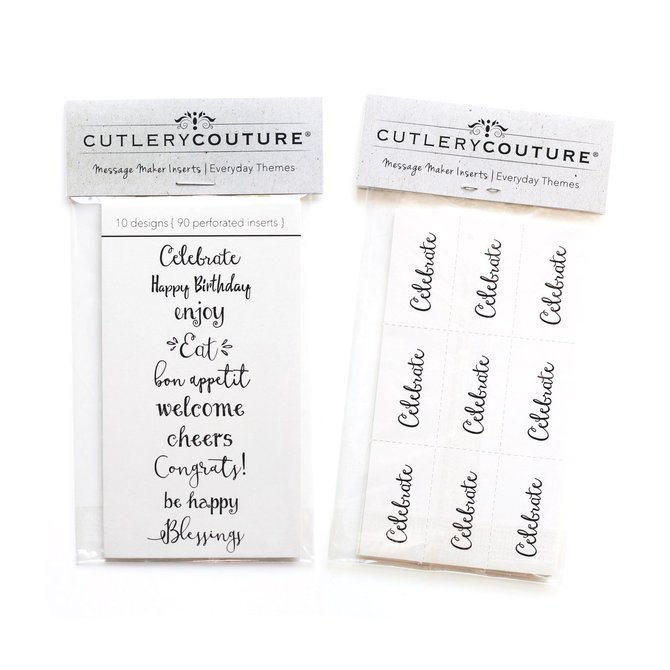 Cutlery Couture Paper inserts everyday