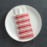 Cutlery Couture Red Cotton Stripe set of 8