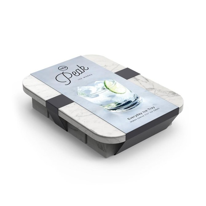 W&P Design Peak Everyday Ice Tray: Marble White
