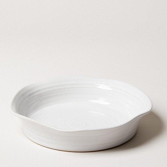 Farmhouse Pottery 10'' Windrow Pie Dish - POT05WH