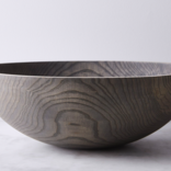 Farmhouse Pottery 12'' Hand Crafted Wooden Bowl - Grey - WOD33WH