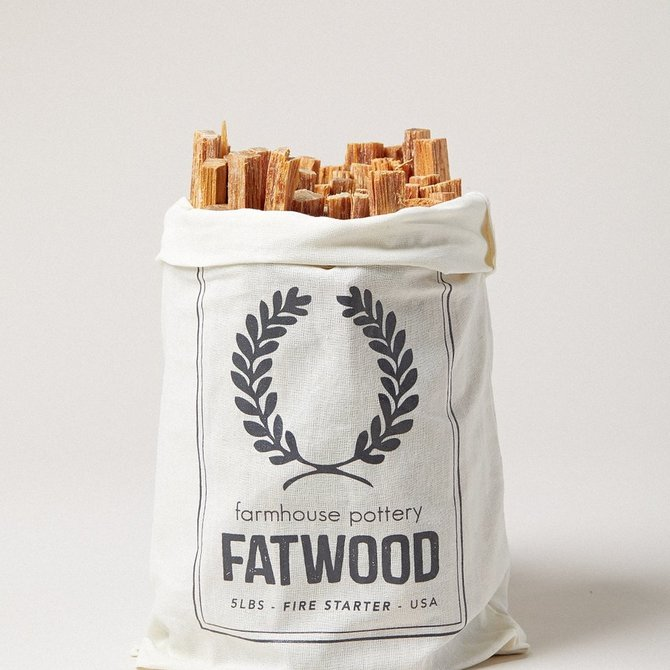 Farmhouse Pottery Fatwood 5lb Bag