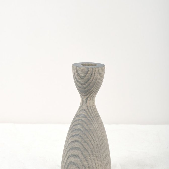 Farmhouse Pottery Pantry Candlestick Grey Small