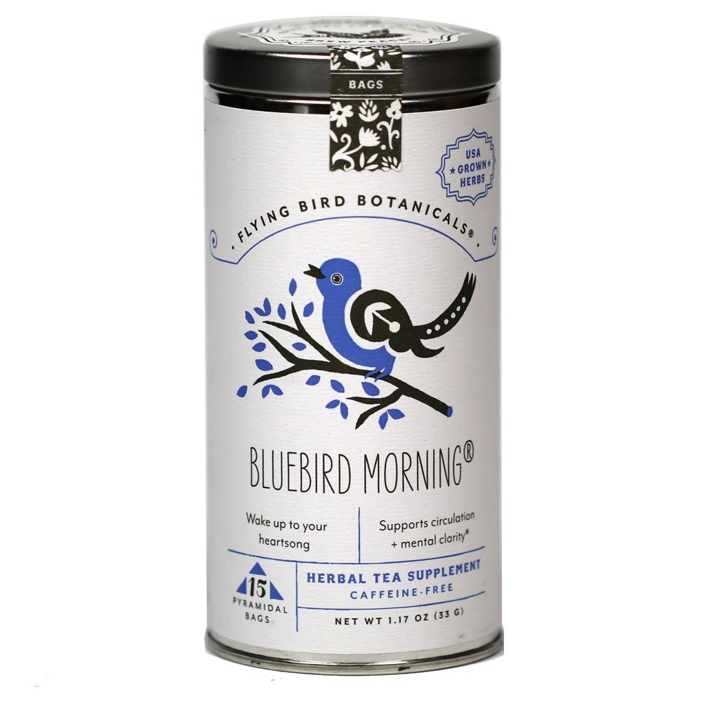 Flying Bird Botanicals Bluebird Morning - 15 Bag Tin