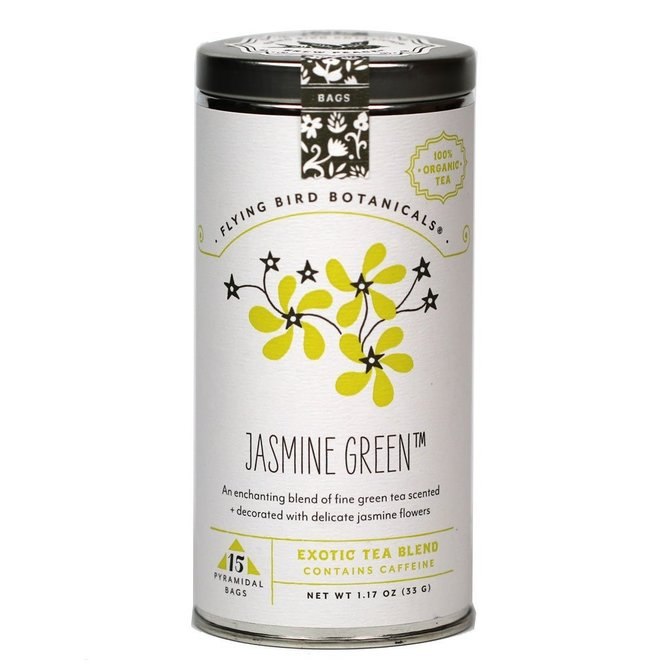 Flying Bird Botanicals Jasmine Green Tin