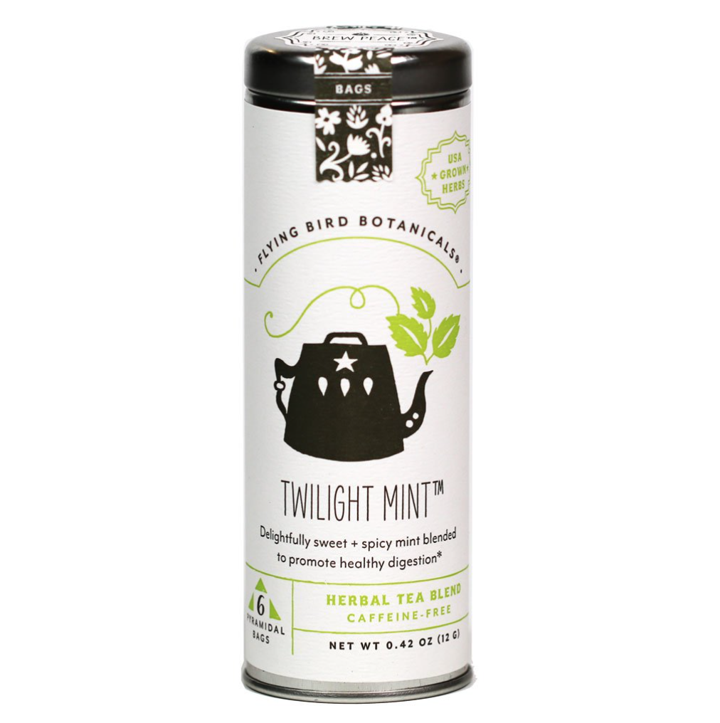 Flying Bird Botanicals Twilight Mint Tea - 15 bag tin