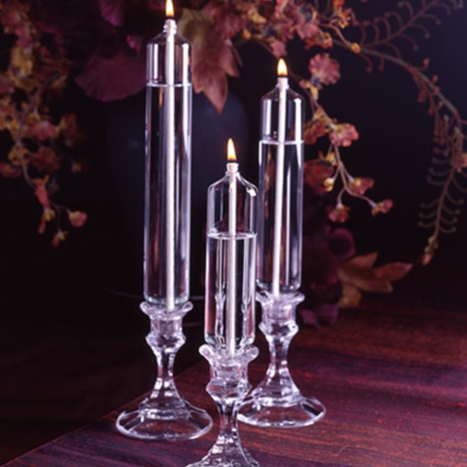 """Firelight Glass Bold Classic Taper 6"""" Tall"""