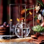 "Firelight Glass Floating Moon 9"" Chimney Lamp"