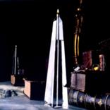 "Firelight Glass Obelisk 8"" Candle"