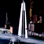 """Firelight Glass Obelisk 12"""" Firelight Glass"""