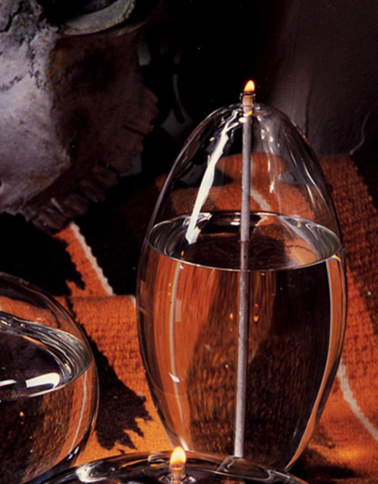 Firelight Glass Pod 6-1/2 Tall Candle