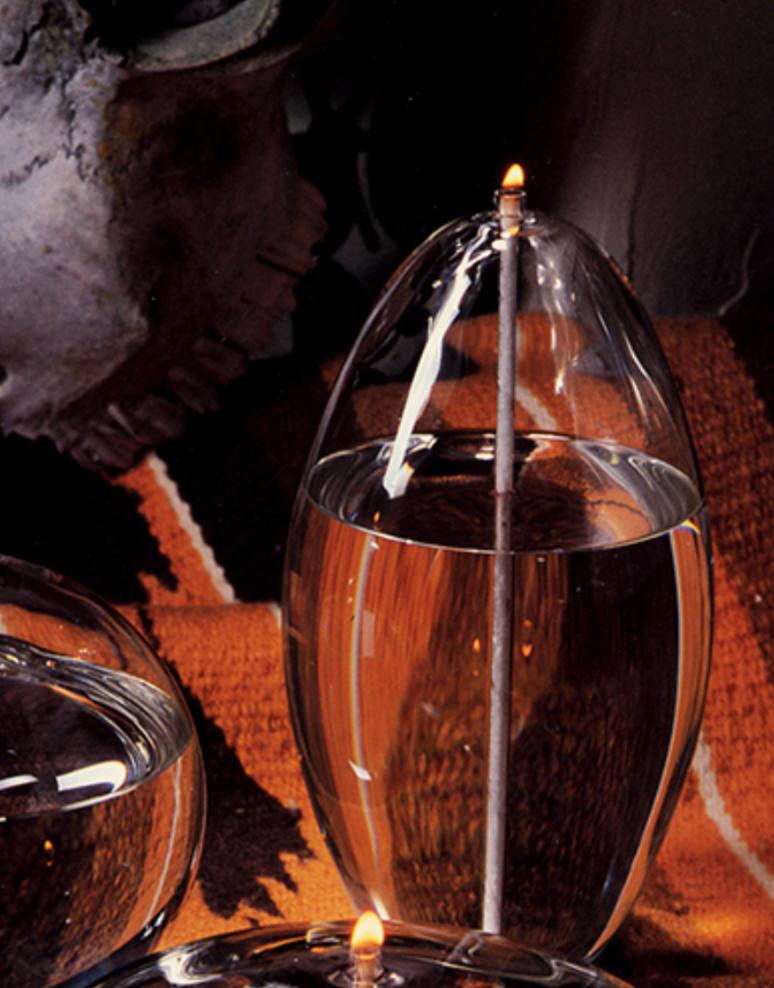 "Firelight Glass Pod 8"" Candle"