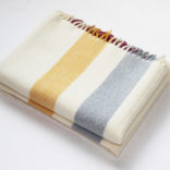Harlow Henry Alpaca Throw Cream Stripe