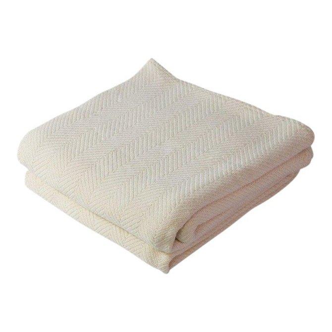 Harlow Henry Herringbone Blanket Natural - Full/Queen