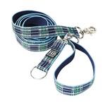 Harry Barker Blue Plaid Leash 3x6