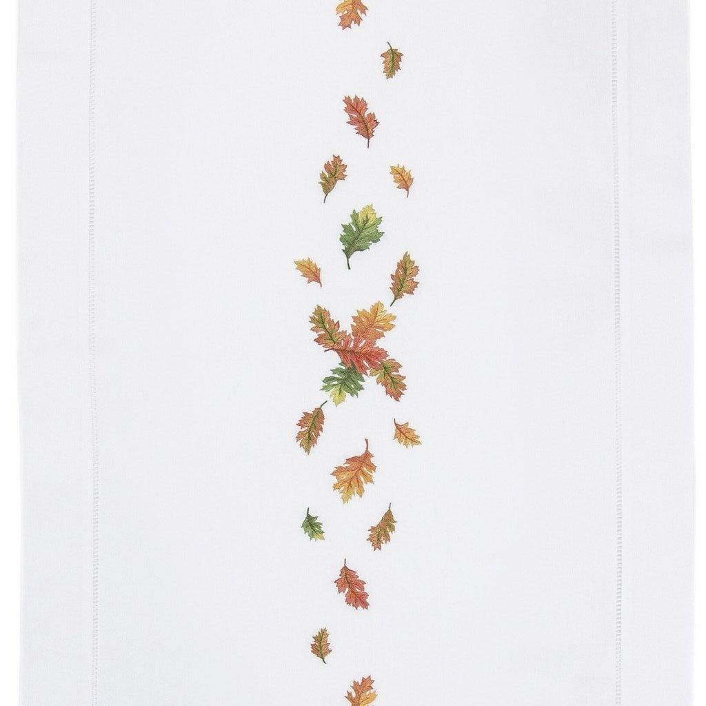 Henry Handwork Fall Leaves Runner 18 x 60