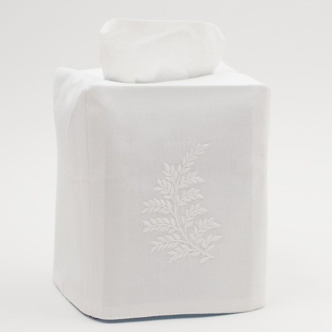 Henry Handwork Leaves White Tissue cover
