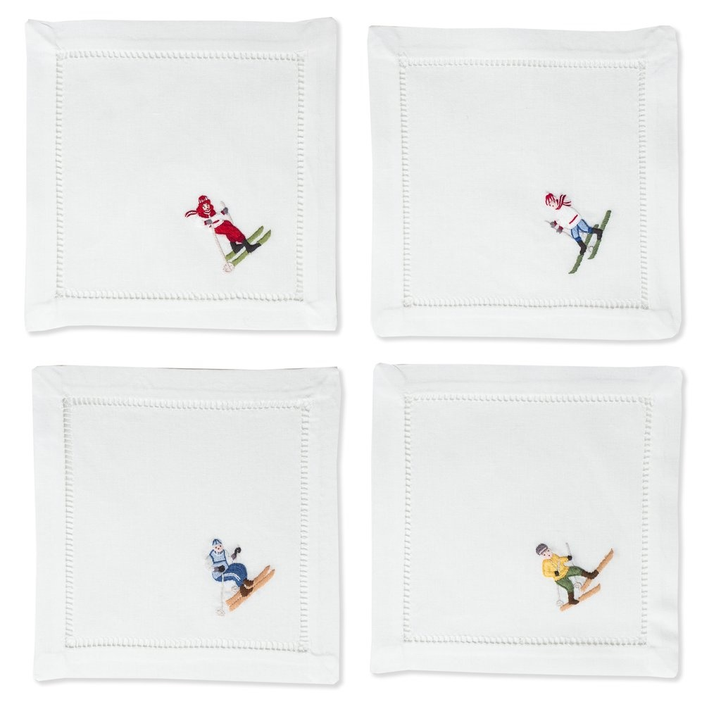 Henry Handwork Skiers Mixed Cocktail Set of 4