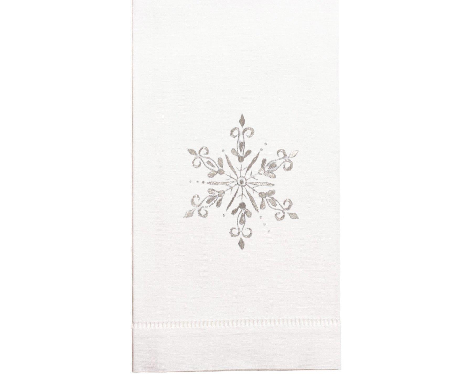 Henry Handwork Snowflake Silver Towel