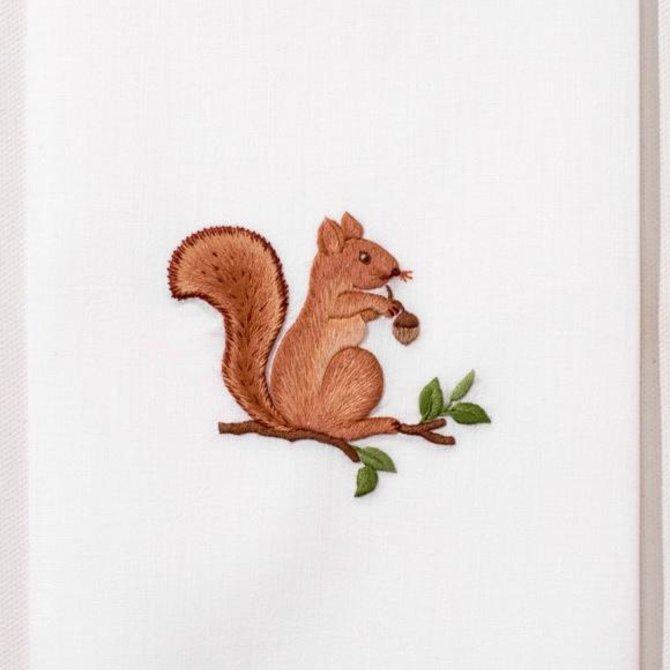 Henry Handwork Squirrel Towel