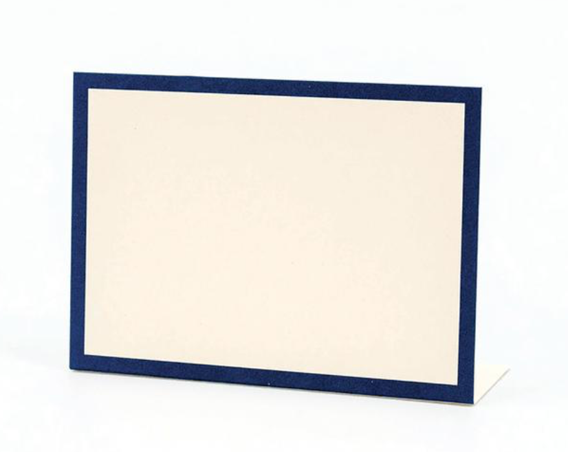 Hester & Cook Navy Frame Place Card - Set of 12