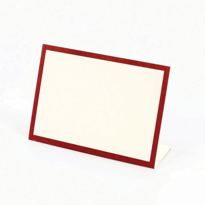 Hester & Cook Red Frame Placecard - Pack of 12