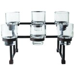 Jan Barboglio Chapel Candle Rail with Six Glass Holders