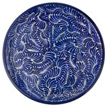 Jan Barboglio Floja Lazy Susan Hand Painted Ceramic/Forged Base