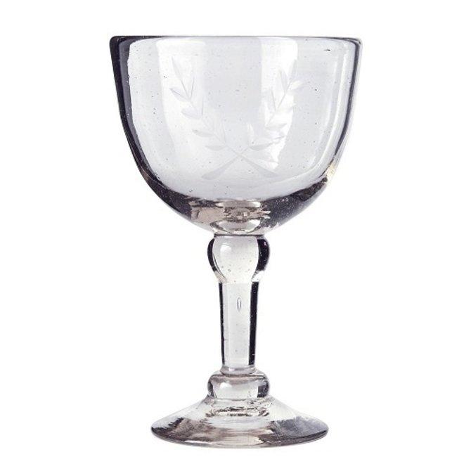 Jan Barboglio Vino Rojo Goblet W/Corona Laurel