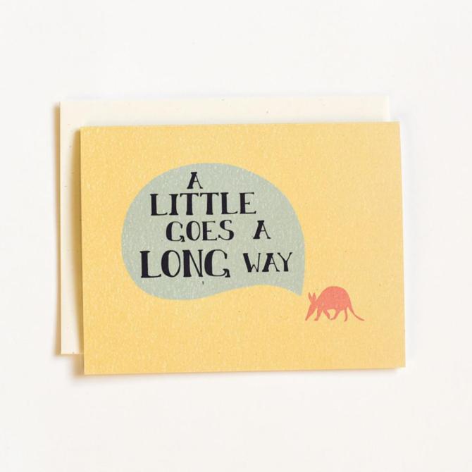 June & December Aardvark Greeting Card