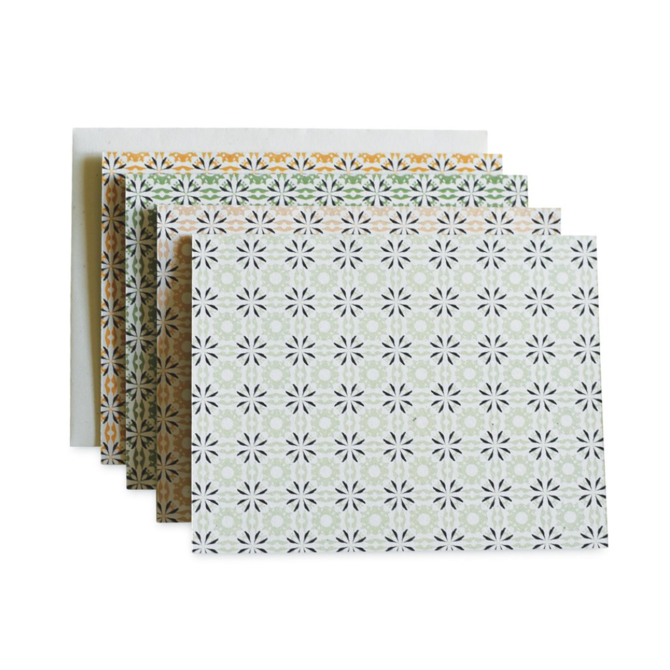 June & December Chicory Woodblock Cards set of 8