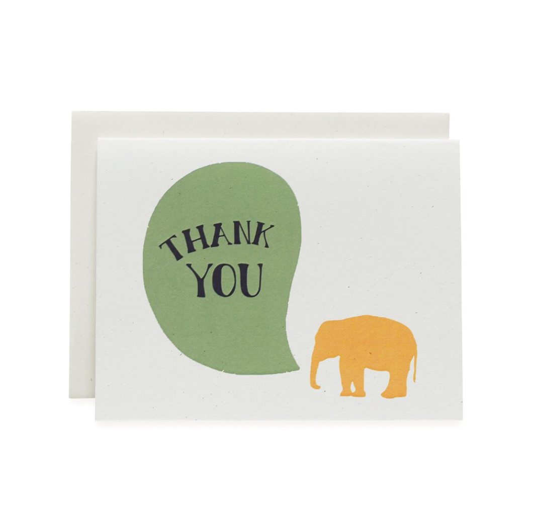 June & December Never Forget Thank You Card : Elephant