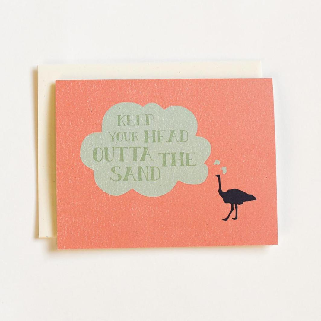 June & December Ostrich Greeting Card