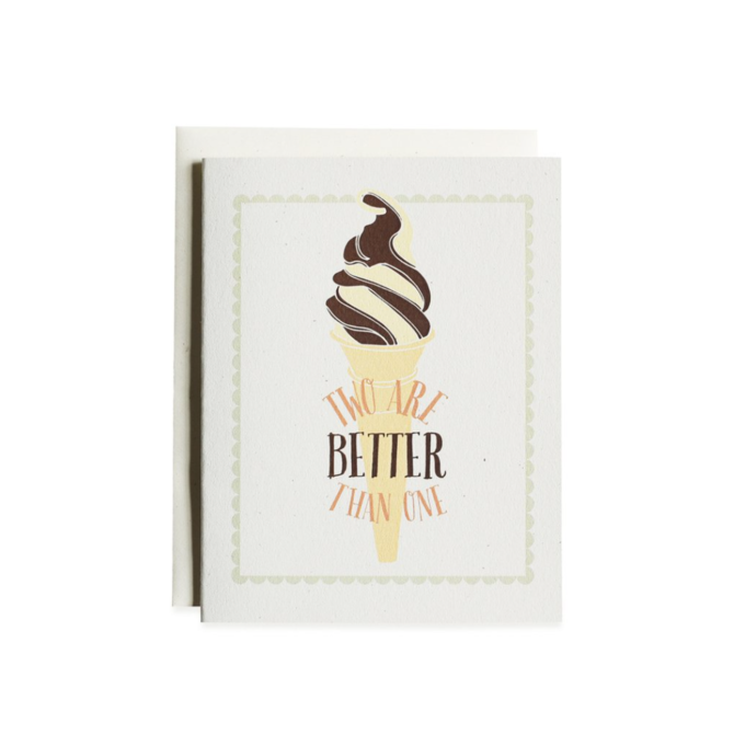 June & December Two are Better Than  One Greeting Card