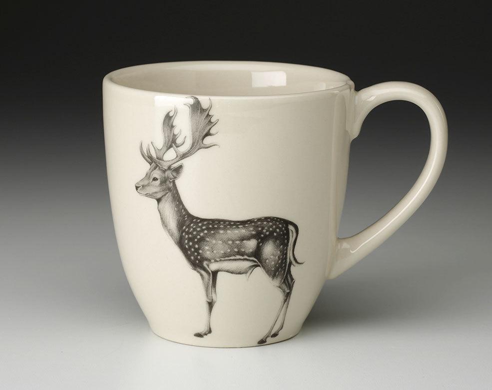 Laura Zindel Design Fallow buck deer mug