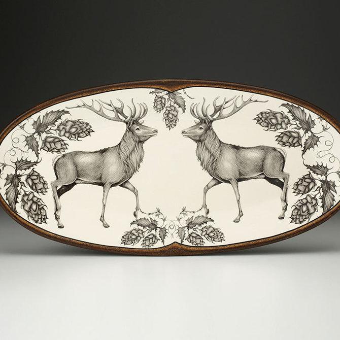 Laura Zindel Design Fish Platter Red Buck