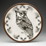 Laura Zindel Design Large Serving Dish Screech Owl #1