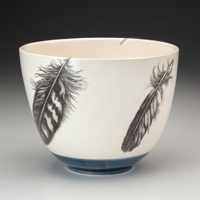Laura Zindel Design Medium Bowl: Quail Feather