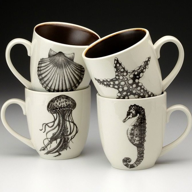 Laura Zindel Design Mugs Sea Life D2MUGSEBL-S