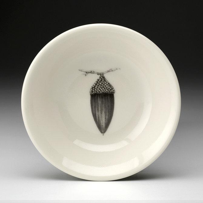 Laura Zindel Design Sauce Bowl Black Oak Acorn