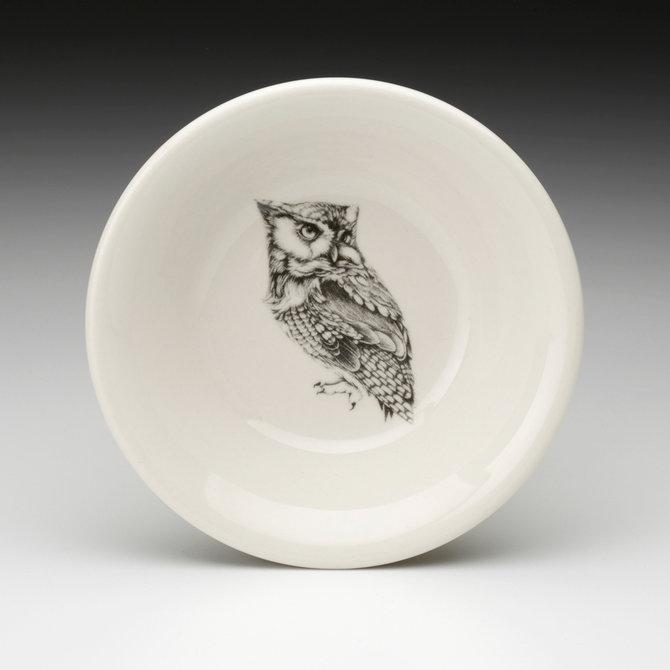 Laura Zindel Design Sauce Bowl Screech Owl #1