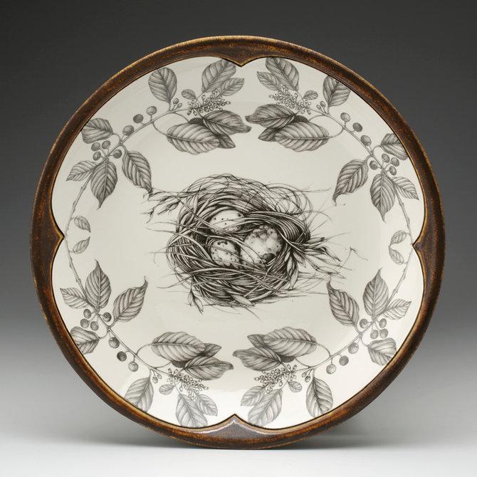 Laura Zindel Design Small Round Platter Quail Nest