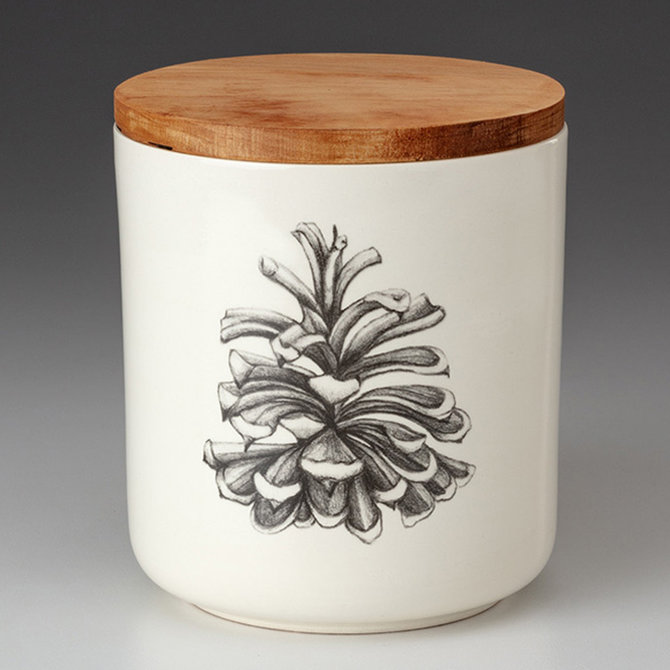 Laura Zindel Design Pinyon Pine Cone Small Canister