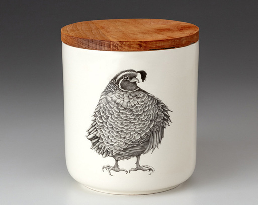 Laura Zindel Design Quail #3 Small Canister
