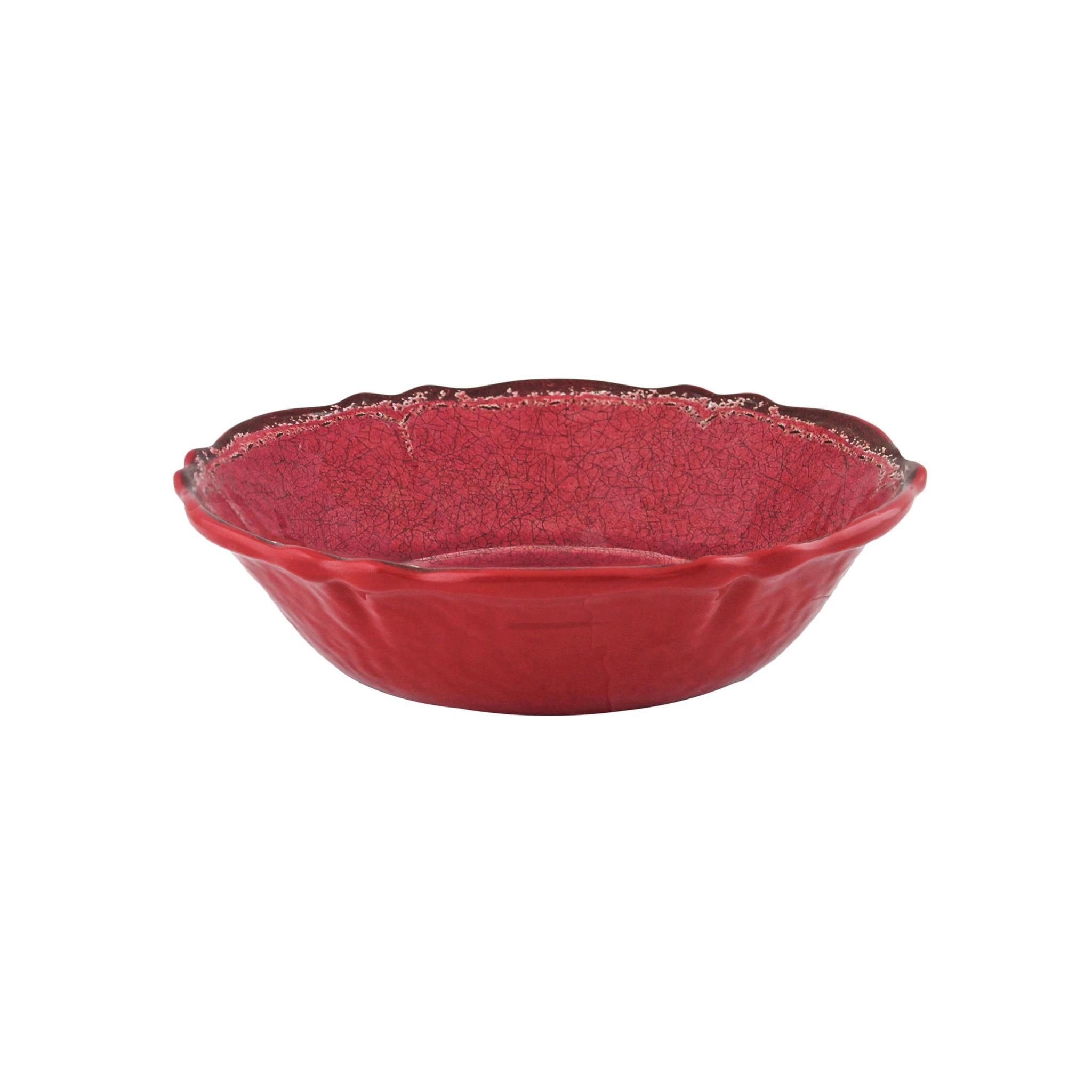 Le Cadeaux Antiqua Red Cereal Bowl